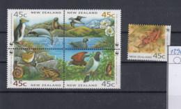 Neu Seeland  (BBK) Michel Cat.No. Mnh/** 1290/1294 Wwf Issue Birds - Nouvelle-Zélande