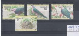 Tokelau  (BBK) Michel Cat.No. Mnh/**  210/213 Wwf Issue Birds - Tokelau