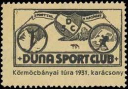 Budapest: Duna Sport Club Reklamemarke - Erinofilia