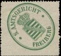 Freiberg/S.: S. Amtsgericht Freiberg Siegelmarke - Cinderellas