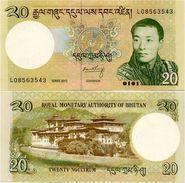 BHUTAN       20 Ngultrum       P-30b       2013       UNC - Bhutan