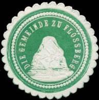 Flössberg: Die Gemeinde Zu Flössberg (Borna) Siegelmarke - Erinofilia