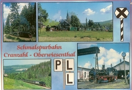 Germany & Postal, Schmalspurbahn Cranzahl Oberwiesenthal, Pension Hannchen, Sehmatal  (129) - Sehmatal