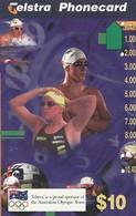TARJETA TELEFONICA DE AUSTRALIA. Swimming. AUS-M-408. (107) - Juegos Olímpicos