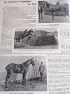 1899 LE CONCOURS HIPPIQUE DE SPA - - Journaux - Quotidiens