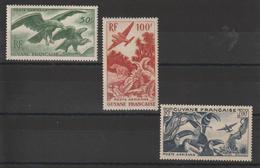Guyane 1947 Série PA 35-37 3 Val Neuf ** MNH - Neufs