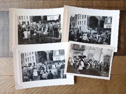 29 CONCARNEAU 1956 DEFILE LES FILETS BLEUS FETES - 4 PHOTOS ORIGINALES - Concarneau