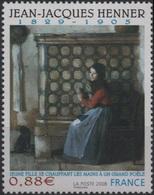 FRANCE Poste 4286 ** Tableau Jean-Jacques HENNER : Jeune Fille Se Chauffant Les Mains à Un Grand Poêle - France