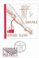 Carte Maximum 1959  Les Donneurs De Sang - 1950-59