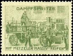 München: Feuerwehr Dampfspritze Reklamemarke - Cinderellas