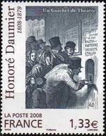 FRANCE Poste 4305 ** Tableau Honoré DAUMIER : Un Guichet De Théâtre - Gravure - France
