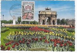 Carte Maximum 1959 Floralies Parisiennes - 1950-59