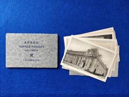 ANTIQUE LUXEMBOURG A.R.B.E.D TERRES ROUGES COLUMETA CARNET X8 POSTCARDS UNUSED - Luxemburg - Town