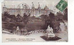 06. NICE . EXCELSIOR HÔTEL REGINA ET MONUMENT DE LA REINE VICTORIA . Oblitération PARIS - 115 - Cafés, Hotels, Restaurants