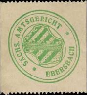 Ebersbach: S. Amtsgericht Ebersbach Siegelmarke - Cinderellas
