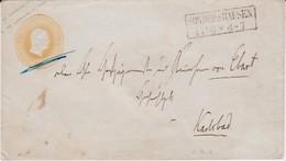 REDUZIERT Preußen Ganzsache U 10 A Ra2 Sondershausen N Karlsbad Böhmen Ca 1854 - Prusse