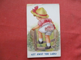 Children > Humorous Cards  Movable Cloth Girl Don't Be So Inquisitive    Ref 3253 - Humorous Cards
