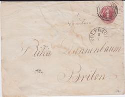 REDUZIERT Thurn Und Taxis Ganzsache U 10 B Nrst K1 Wolfhagen N Brilon Ca 1862 RR - Tour Et Taxis