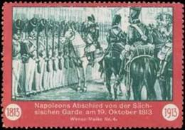 Leipzig: Napoleons Abschied Reklamemarke - Cinderellas