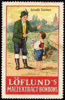 Grunbach: Schwäbische Trachten Reklamemarke - Cinderellas