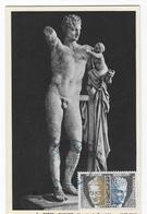 Carte Maximum 1961 Gréce  Olympie Hermes De Praxitéle - Cartes-Maximum