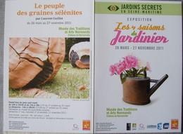 Jardins Secrets En Seine Maritime - Arrosoir Pivoine Fleur Jardinier Musée Arts Normands Martainville - Vieux Papiers