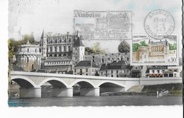 Carte Maximum 1963 Amboise - Cartes-Maximum