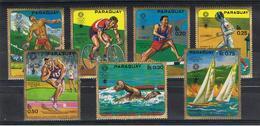 PARAGUAY:  1970  MONACO  '72 -  S. CPL. 7  VAL. N. -  MICHEL  2035/41 - Paraguay