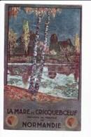 (Carte Aluminium)-Chemins De Fer De L'Etat - LA MARE De CRICQUEBOEUF - Environs De Trouville - France