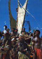 1 AK Papua New Guinea * Lakatoi (Doppelsegler) In Der Ela Beach Bei Port Moresby - Hiri Moale Festival 1987 * - Papoea-Nieuw-Guinea