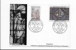 Carte Maximum 1965 Pèlerins Et Chemins De Saint Jacques En France - Cartas Máxima