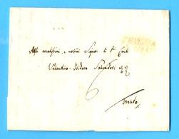 Italië 1836 :  BRIEF/LETTRE 1836   VENEZIA - TRENTO.  GRIFFE : VENEZIA.  Ft. : 26,10 X 21,30 Cm. ( 4 Blz. ) - Italie
