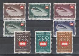 PARAGUAY:  1963  GIOCHI  OLIMPICI  INVERNALI  -  S. CPL. 8  VAL. N. -  MICHEL  1249/56 - Paraguay