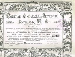 Titre Ancien -Sociedad Andalvza De Cementos Portland S.A. - Titulo De 1967 - Déco - Industrie