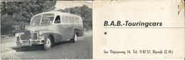 BAB Touringcars, Rijswijk, Padvinders, Jeugdvervoer - Reclame