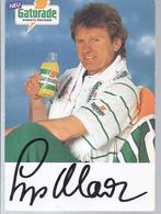 AK-45385   Sepp Mayer  Gatorade Falt Werbe Und Autogrammkarte - Autographs