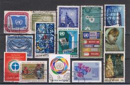 O.N.U.:  1951/81  VARI  -  INSIEME  15  VAL. US. -  MICHEL  7//369 - New York - Sede Centrale Delle NU