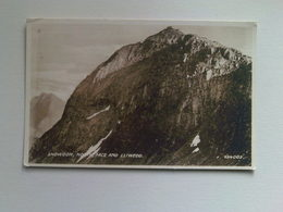 Black And White  Postcard - Snowdon North Face And Lliwedd - Wales