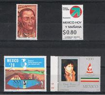 MESSICO:  1971/87  VARI  -  4  VAL. N. -  MICHEL  1349//2014 - Messico