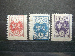 Central Lithuania Lietuva Litauen Lituanie Litouwen # 1920 MH # Mi. 1/3A - Lituanie
