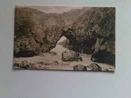 Black And White  Postcard - Devil's Frying Pan Near Lizard - England