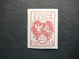 Central Lithuania Lietuva Litauen Lituanie Litouwen # 1920 MH # Mi. 1B - Lituania