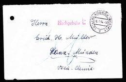 A6006) Bund Brief Gladbeck 09.01.54 N. Hann.-Münden Stempel Nachgebühr E Selten - BRD