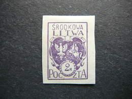 Central Lithuania Lietuva Litauen Lituanie Litouwen # 1920 MH # Mi. 3B - Lituania