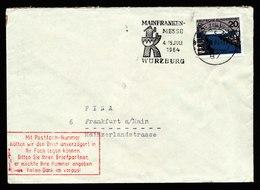 A6007) Bund Brief Würzburg 1964 N. Frankfurt/M.sehr Seltener Roter Hinweisstempel Postfach - BRD