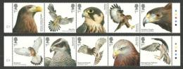 GB 2019 BIRDS OF PREY EAGLES FALCONS BUZZARDS KITES KESTREL SET MNH - 1952-.... (Elisabeth II.)