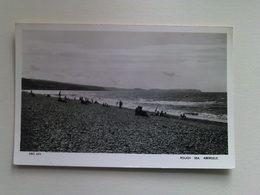 Black And White  Postcard - Rough Sea, Abergale - Wales