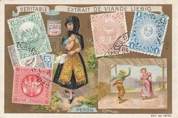 Trade Card (TC): Girl & Yeast  , & W/ Stamps , 1880-90s ; Peru - Pérou