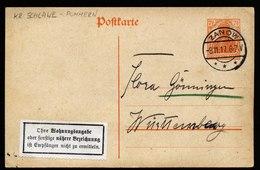 A6010) DR Karte Zanow 08.11.17 N. Württemberg Seltener Weißer Zettel Unten Gezähnt - Deutschland