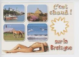 """Doëlan """"c'est Chaud Sur La Bretagne"""" Douelan, Pointe Van, Pin Up Nu, Cheval Silhouette Soleil Multivues 29D003 - Sonstige Gemeinden"""